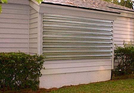 Tampa Metal Hurricane Shutters Panels, Hurricane Protection Produc