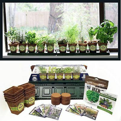 10 Herb Windowsill Garden Kit, Indoor Herb Garden Kit Complete .