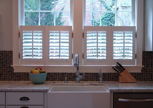 Hot Home Trend: Interior Shutters | Cafe style shutters, Kitchen .