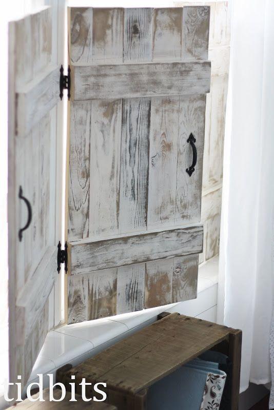 DIY indoor shutters! If i had a window over my kitchen sink, i .