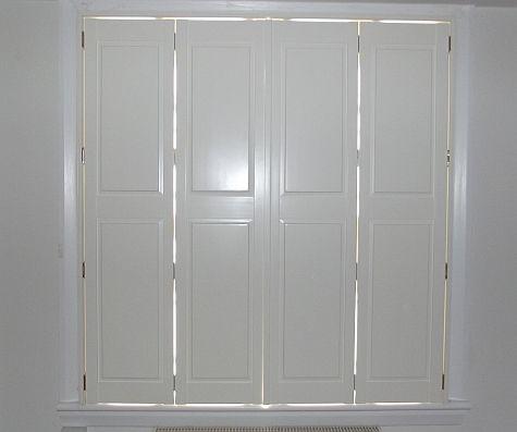 Solid Bi Fold Shutters | Wood doors interior, Interior shutters .