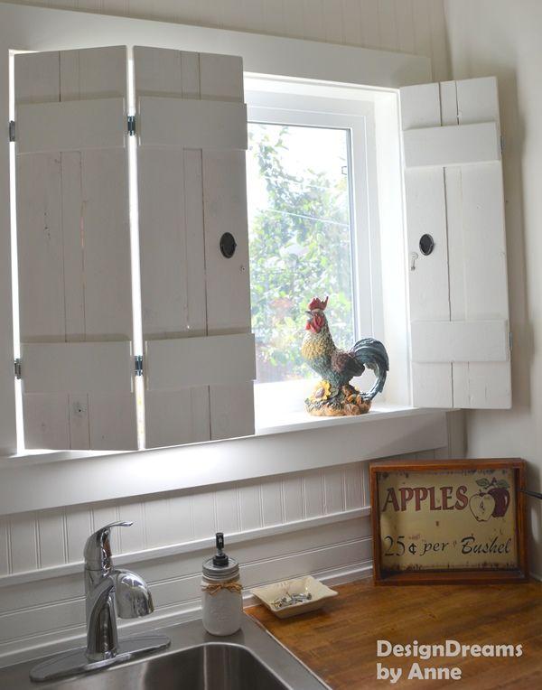 $10 DIY Indoor Shutters | Indoor shutters, Rustic shutters .
