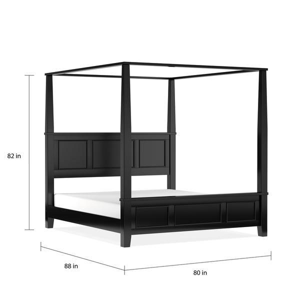 Shop Copper Grove Oastler King Canopy Bed - Overstock - 208823