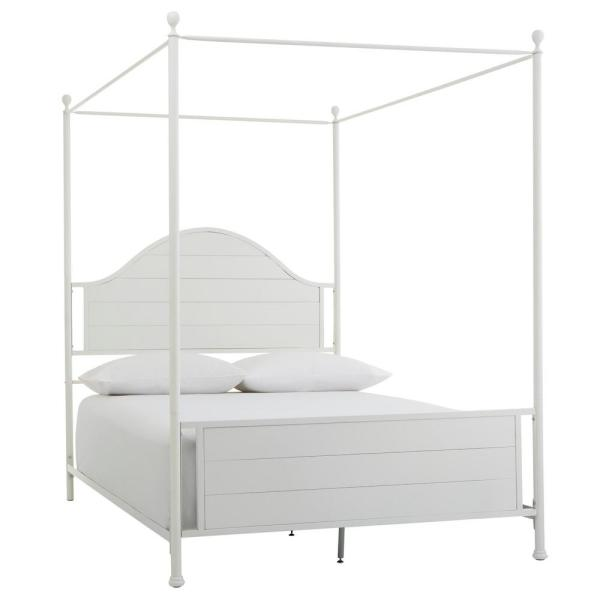 Home Decorators Collection Corlyn Bright White Metal King Canopy .
