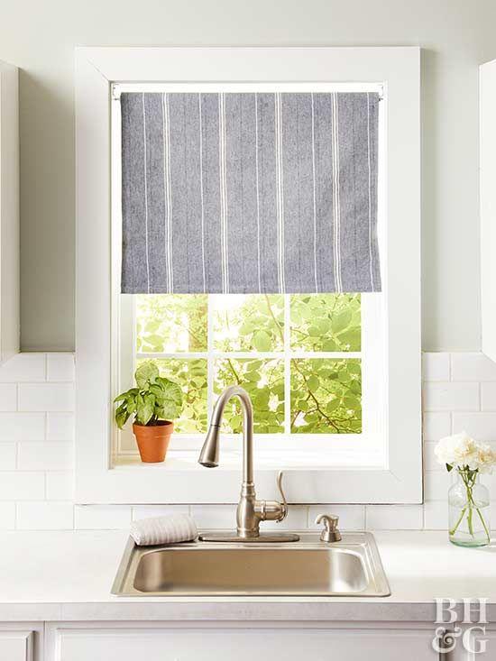 14 DIY Kitchen Window Treatments | Kitchen window treatments .