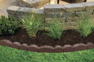 Lasting Beauty™ 4' Rubber Cobblestone Landscape Edging - Brown at .