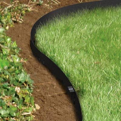Amazon.com : Panacea 83640 Straight Edge Landscape Edging, Black .