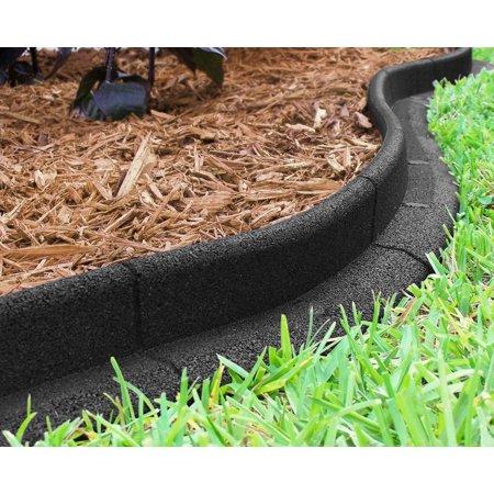 Ecoborder 24 Ft No Dig Landscape Edging Black - Walmart.com .