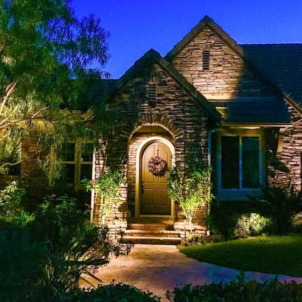 Outdoor Landscape Lighting Design Company in Orange County .