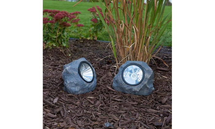 Up To 49% Off on New Solar Outdoor LED Rock La... | Groupon Goo