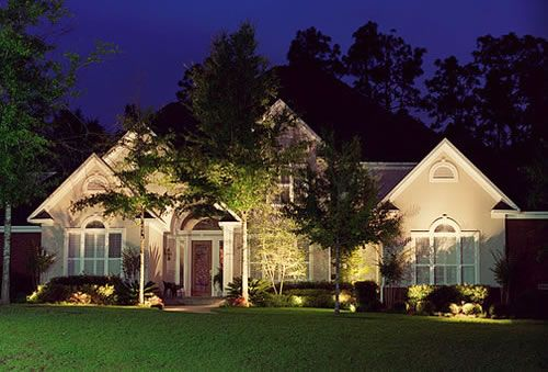 Exterior Landscaping Lighting Design for Front Yard | Landscape .