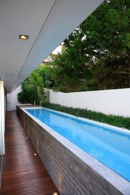 Small Space Swimming: Lap Pools | Modern pools, Small pools .