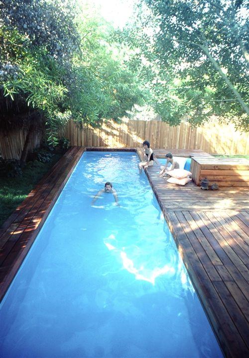 DIY lap pool & spa plans. | Indoor swimming pool design, Small .
