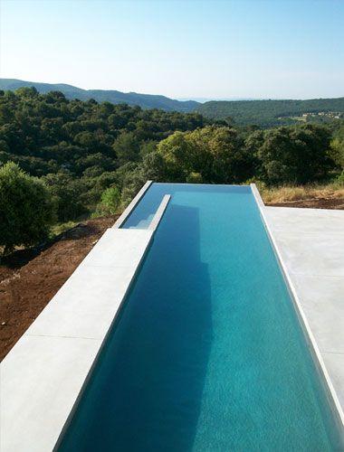 studio ko Lap pool with infinity edge | Pool water features, Pool .