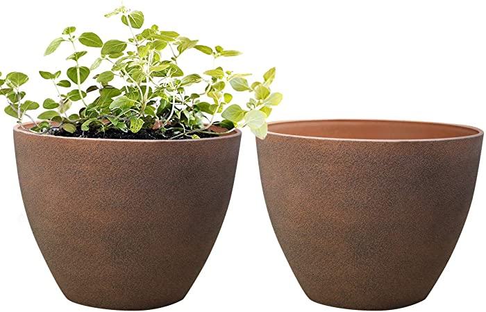 Amazon.com : Flower Pots Outdoor - Large Garden Planters with .