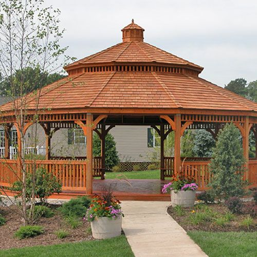 30′ DODECAGON LARGE WOOD GAZEBO – Portable Sheds, Garages & Cabins .