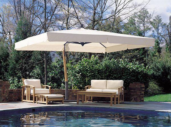Giant 10x13ft Rectangle Sidepost Umbrella   Large patio umbrellas .