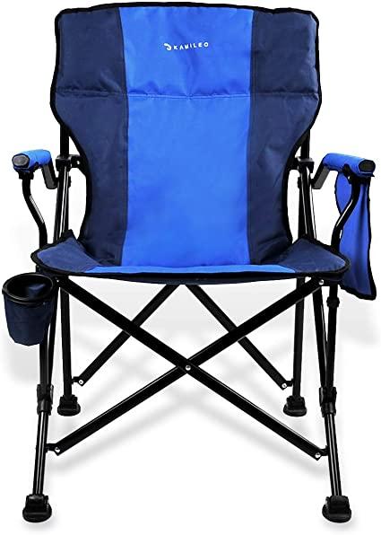 Amazon.com : Kamileo Camping Chair, Folding Portable Lawn Chair .