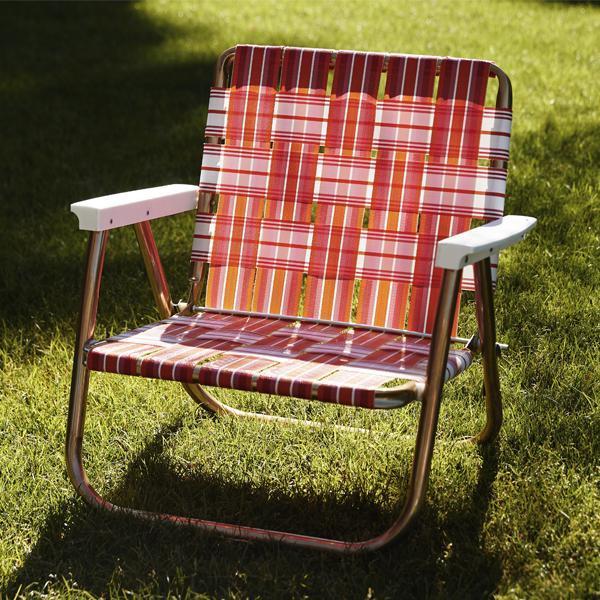 FUNBOY Retro Lawn Chair - Pink/Orange - Funb