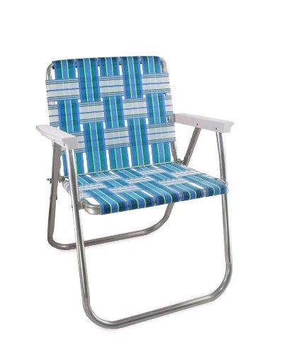 Lawn Chair USA Aluminum Webbed Chair (Picnic Chair, Sea Island .