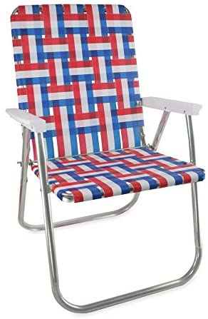 Amazon.com: Lawn Chair USA Webbing Chair (Classic, Old Glory with .