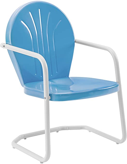 Amazon.com : Crosley Furniture Griffith Metal Outdoor Chair - Sky .