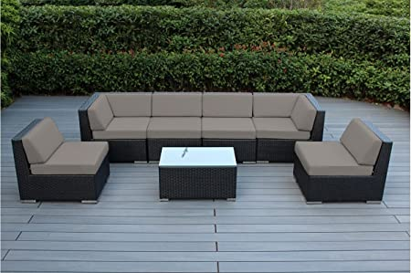 Amazon.com: Ohana 7-Piece Outdoor Patio Furniture Sectional .