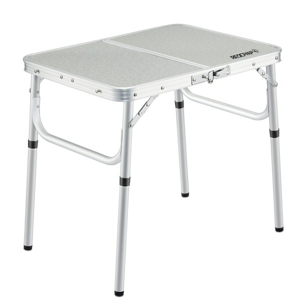REDCAMP 2' Small Folding Table for Outdoor, Centerfold Adjustable .