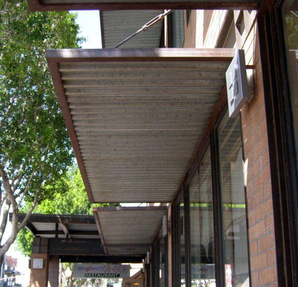Steel Awnings | Metal awning, Metal pergola, Pergo