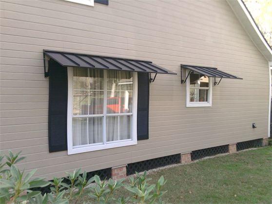 standing seam window awnings | Metal awning, Metal awnings for .