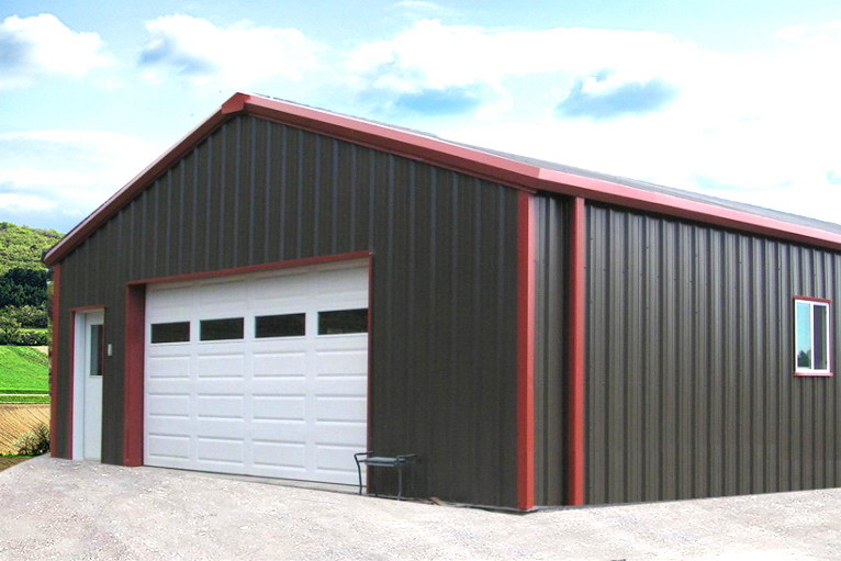 Maverick Metal Garage 24x30x10 - Big Buildings Dire