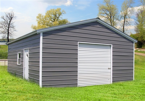 18x26 vertical roof metal garage - CT, MA, DE, DC, IN, MD, NJ, NY .