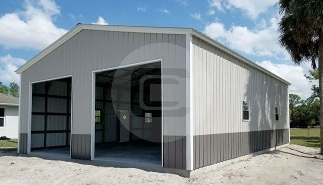 30x46 Metal Garage | Buy Enclosed Metal Gara