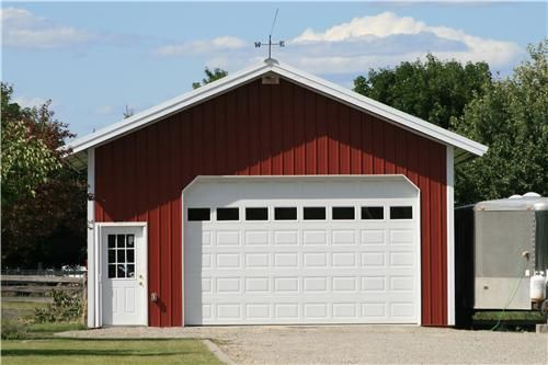 Steel Garages | Small Metal Garage Building with Shop | Metal .