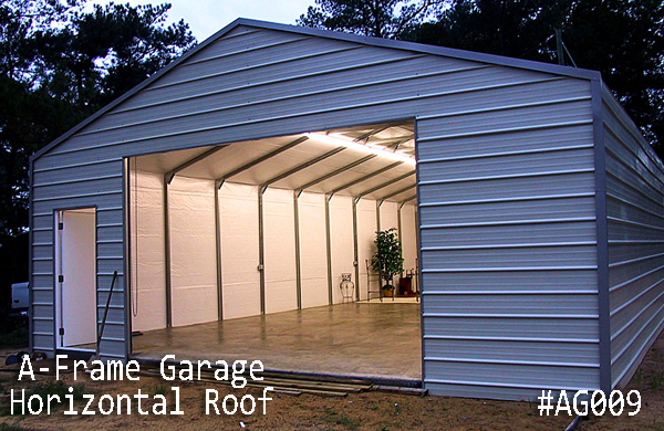 A-Frame Horizontal Steel Garages | Boxed Eave Gara