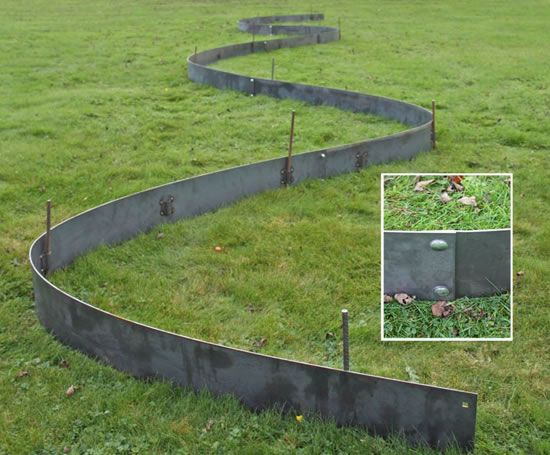 Steel Lawn Edging 20 Metal Landscape Edging by cms.esi.info .