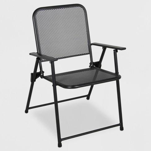 Metal Mesh Folding Patio Chair - Threshold™ : Targ