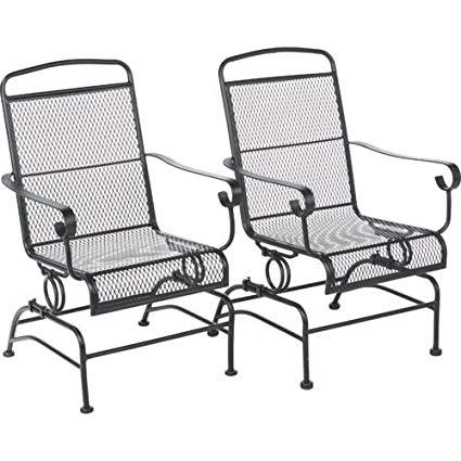 Metal Outdoor Rocking Chairs Amazing Amazon Com Steel Mesh Patio .