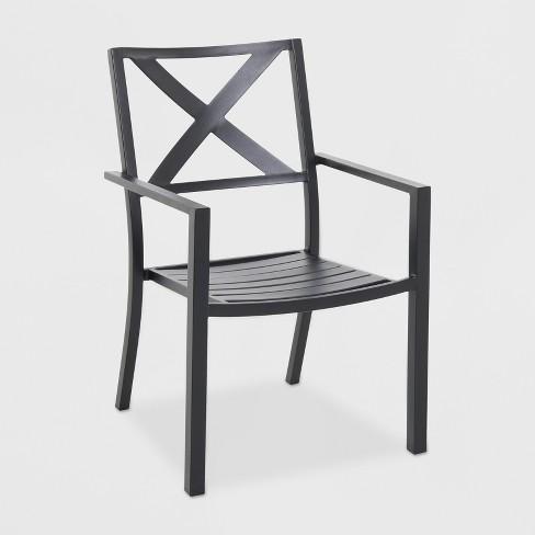 Afton Metal X-Back Chair Black - Threshold™ : Targ