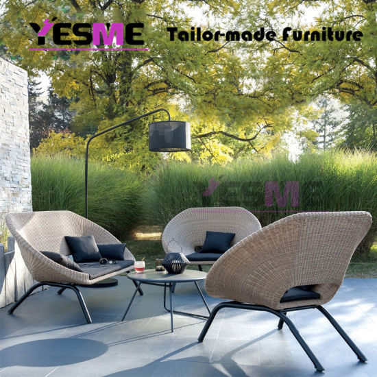China Foshan Garden Furniture Modern Outdoor Sofa Lounge Rope .