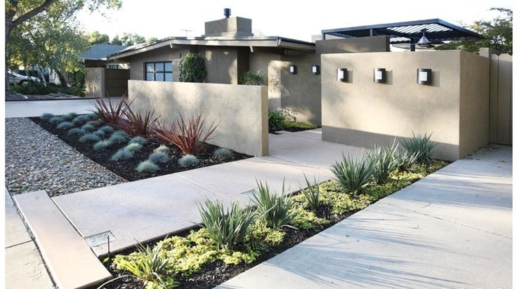 50 Modern Front Yard Designs and Ideas | Modern front yard, Front .
