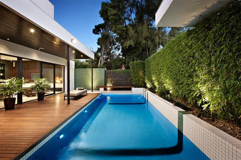 20 Modern Contemporary Rectangular Pools With Wooden Decking .