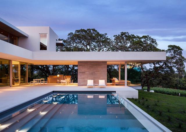 Windsor Select Limestone - Modern - Pools & Hot Tubs - Houston .