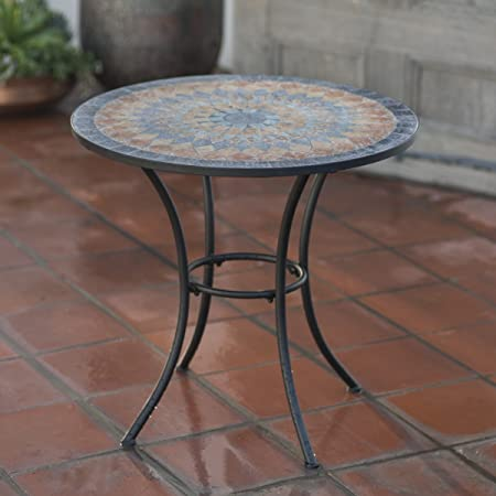 Amazon.com: Contemporary Round Outdoor Bistro Table Mosaic Design .