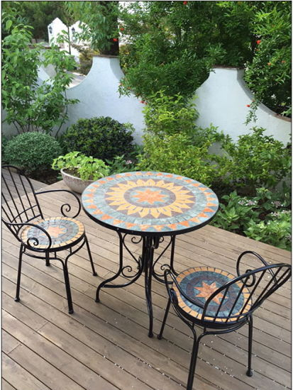 China Rural Style Mosaic Patio Furniture Outdoor Furniture - China .