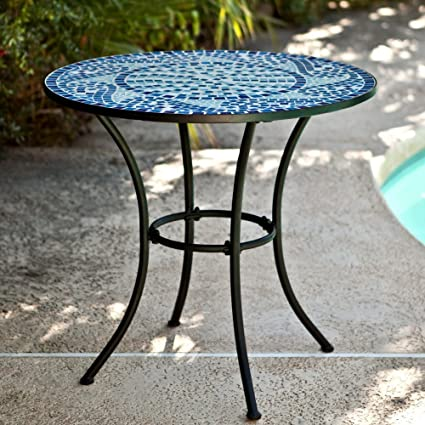 Amazon.com: Coral Coast Coral Coast Marina Mosaic Bistro Table .