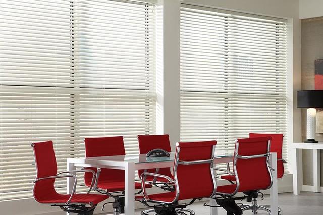WHITE MINI BLINDS - ALUMINUM BLINDS - Lafayette Interior Fashions .