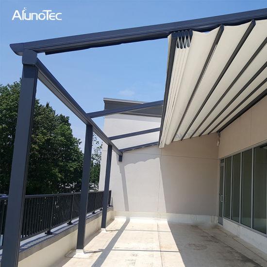 China Waterproof Roof Awnings Motorised Balcony Retractable Awning .