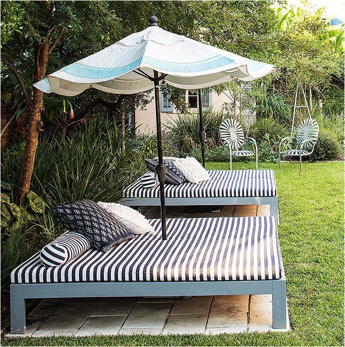 Create your own outdoor bed for laying out or snoozing. Great .