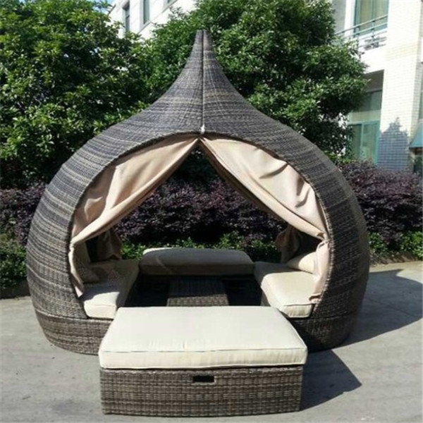 2015 Hot-selling Wicker Outdoor Bed Design Furniture - Buy Bed .